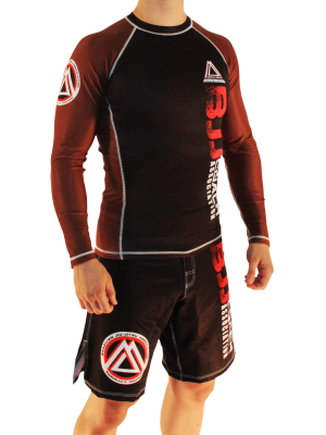 Brown/Black Official Assoc Rash Guard